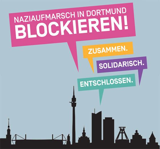 Bildergebnis für fotos vom plakat gegen den naziaufmarsch am 14. april 2018 in dortmund