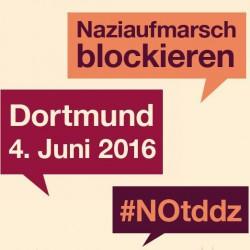Aufkleber zum Nottd in Dortmund am 4. Juni 2016